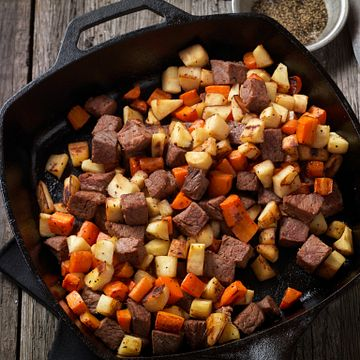 Beef Ribeye & Vegetable Hash