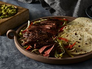 Sous Vide Flank Steak Fajitas