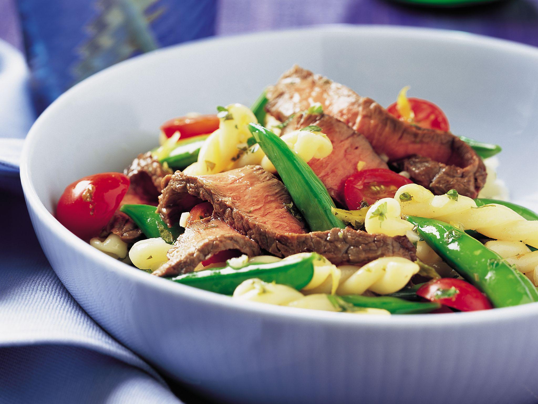 Steak & Sugar Snap Pea Pasta Salad
