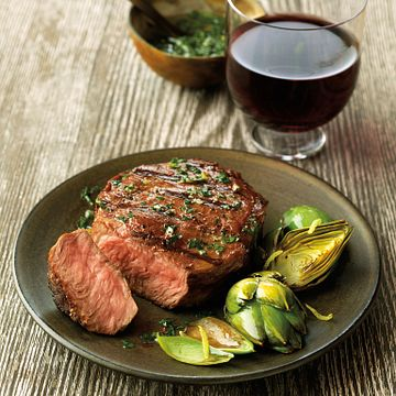 Chimichurri-Marinated Strip Filets