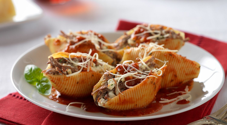 Beefy Italian Stuffed Shells