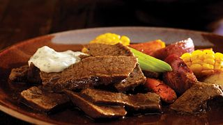 Braised Beef with Lime-Cilantro Mayonnaise