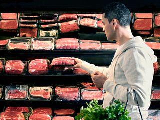 Open Meat Case