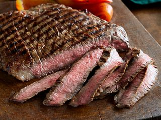 Southwest Marinated Beef Steak and Grilled Peppers