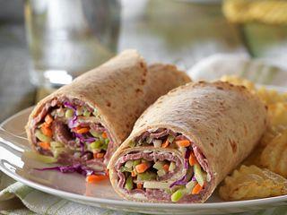 Roast Beef & Veggie Wraps