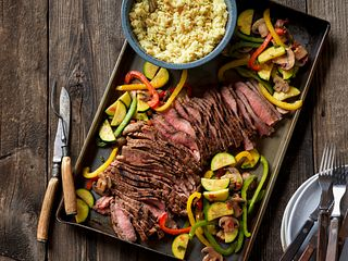 Grilled Southwestern Steak and Colorful Vegetables