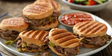 Spicy Drowned Beef Sandwiches