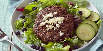 Beef, Blueberry and Flax Burgers