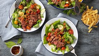 Gazpacho Steak Salad