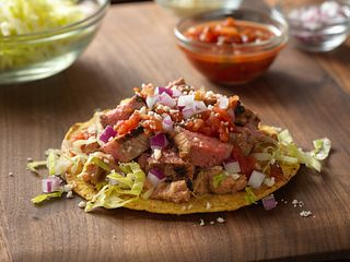 Grilled Beef Tostada