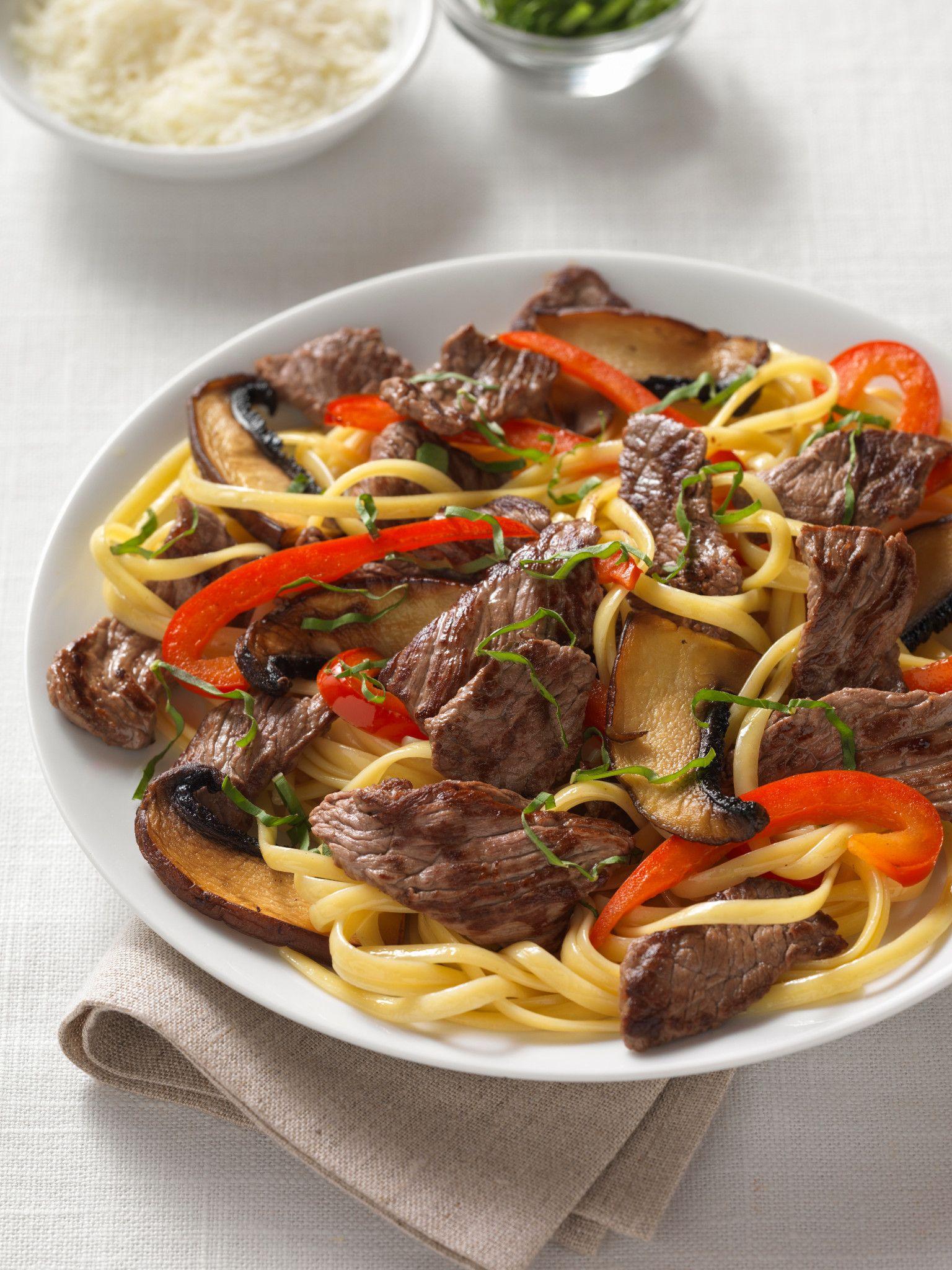 Beef Sirloin Pasta Portobello