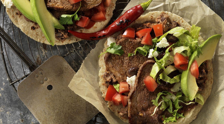 Beef Steak & Black Bean Soft Tacos