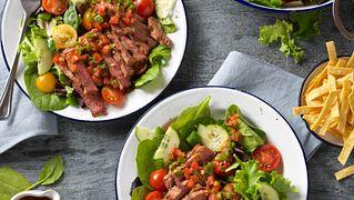 Gazpacho Steak Salad