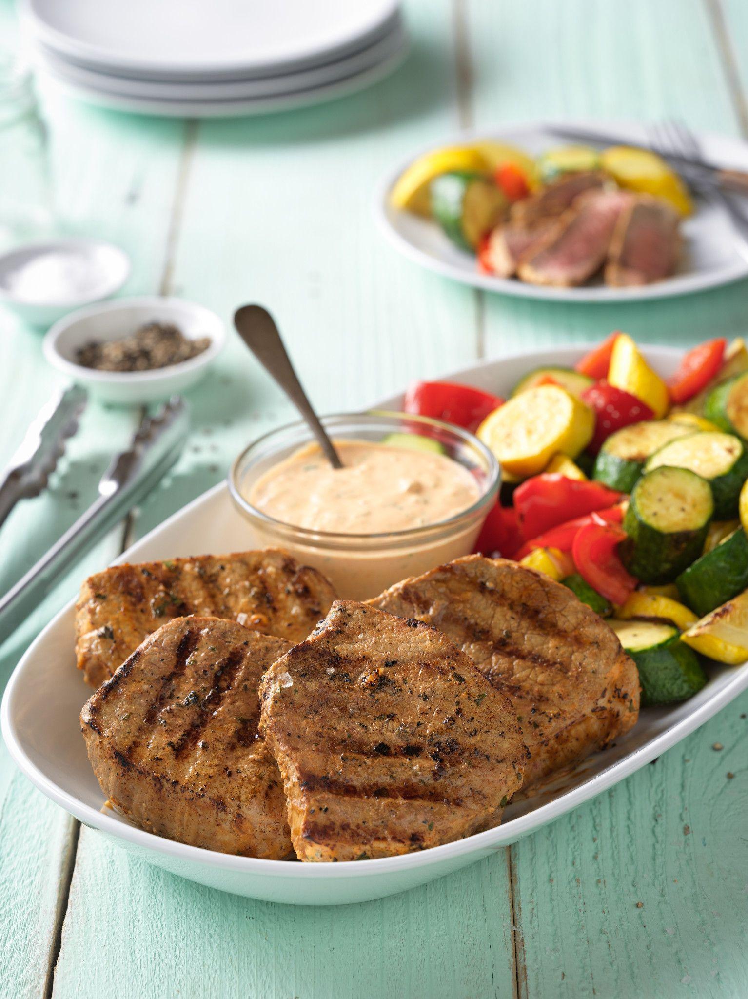 Eye of Round Steaks with Garlic-Yogurt Marinade