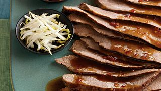 Beef Brisket with Spicy Asian Chili Sauce