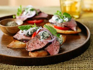 Steak Bleu Baguette