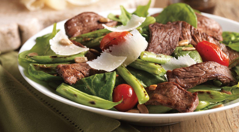 Top Sirloin Steak, Green Bean and Tomato Salad