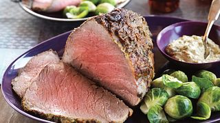 Herbed-Mustard Topped Beef Roast