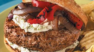 Garlic-Herb Cheeseburger