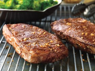 Beef Steaks with Sweet-Soy Drizzle