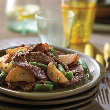 Beefy Potato Salad with Green Beans