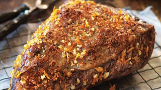 Pepper & Orange-Rubbed Beef Roast with Balsamic Beets