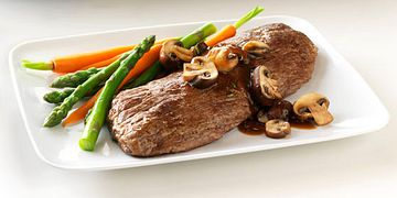 Beef Sierra Cut with Mushroom-Thyme Sauce