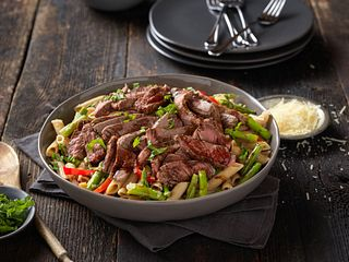 Rancher Recipe Balsamic Steak Pasta
