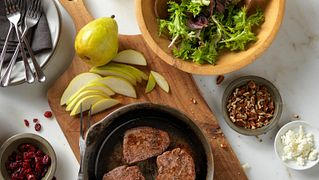 Beef Tenderloin, Cranberry and Pear Salad