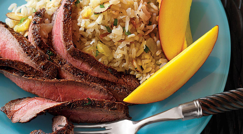 Caribbean Flank Steak with Coconut Rice