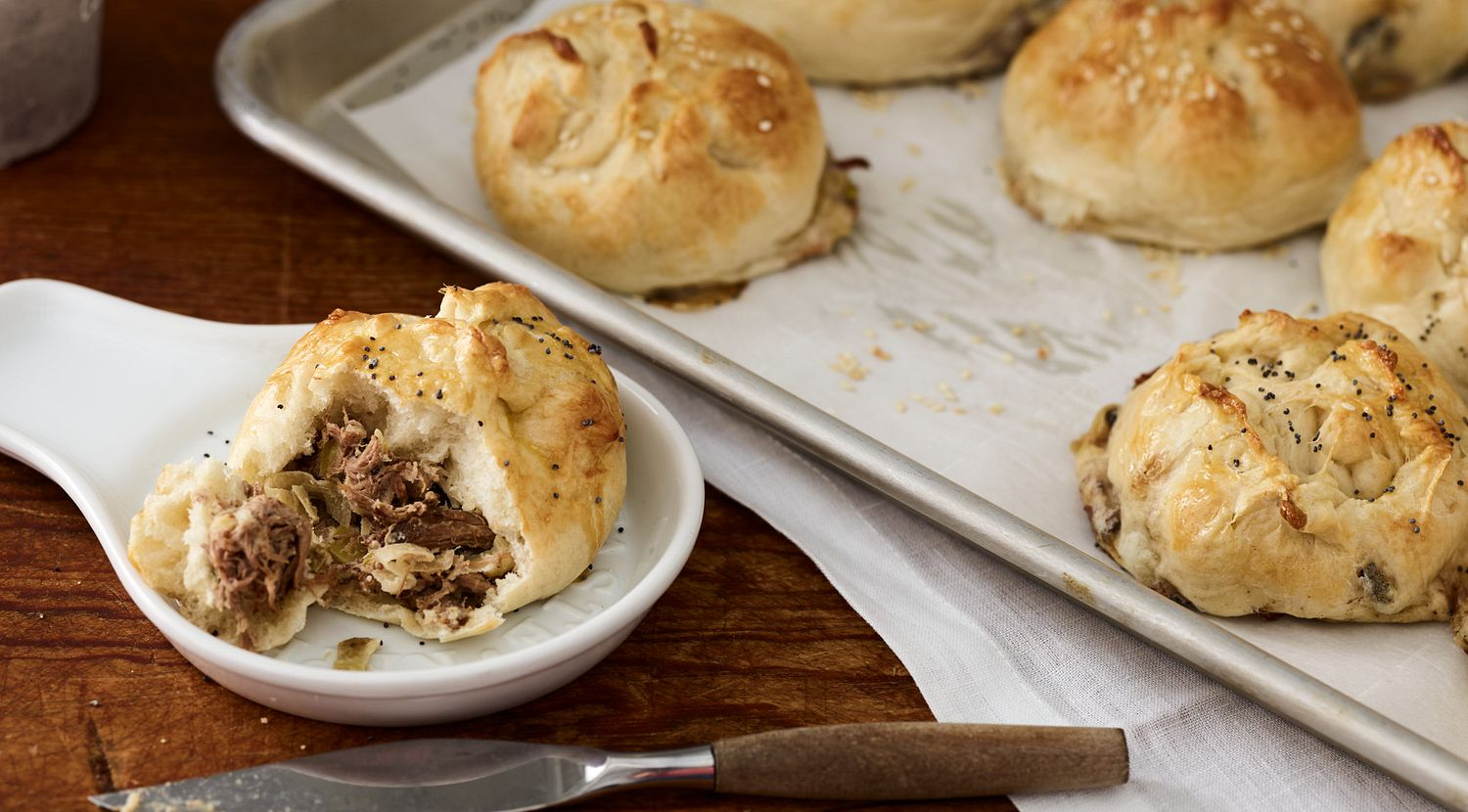 Beef and Caramelized Onion Knishes