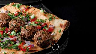 Mediterranean Beef Meatball Kabob