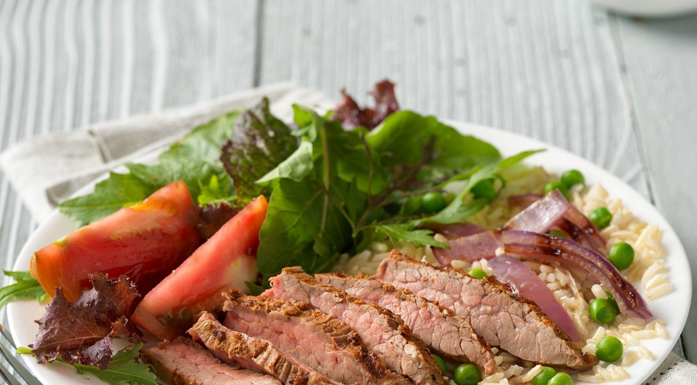 Indian Beef Flank Steak & Rice