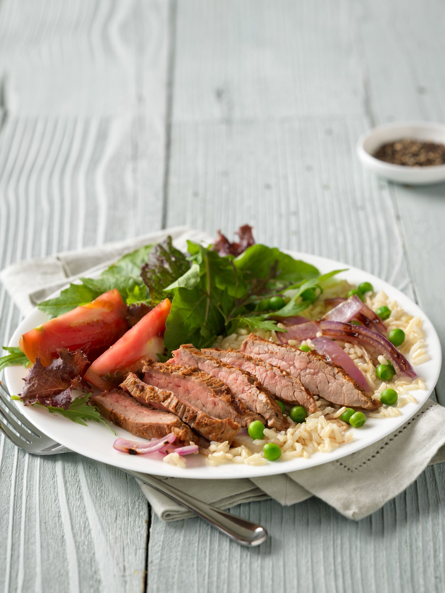 Indian Beef Flank Steak & Rice