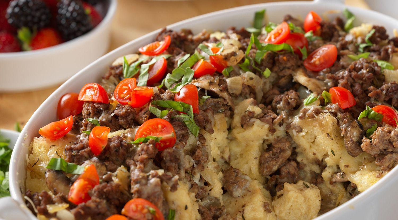 Make-Ahead Brunch Beef Strata