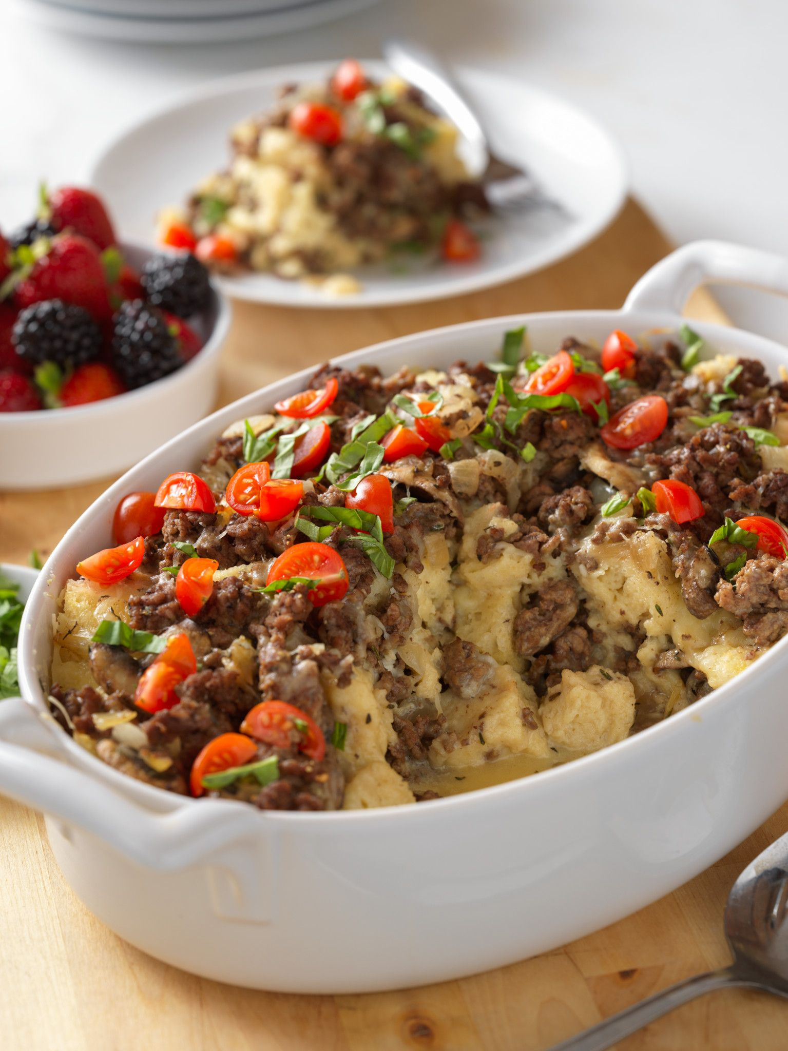 Make-Ahead Brunch Beef Strata