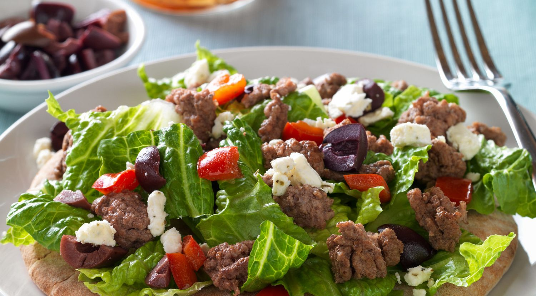 Mediterranean Beef and Salad Pita