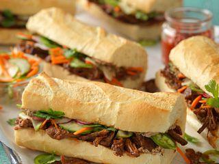 Gochujang Beef Banh Mi Sandwiches