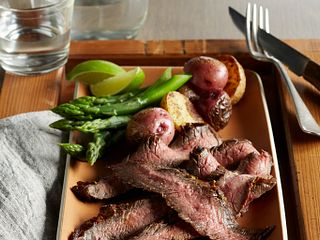 Chipotle-Marinated Beef Flank Steak Vertical