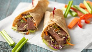 Mu Shu Steak & Apple Wraps