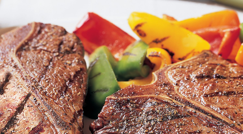 Spicy Five-Pepper T-Bone Steaks