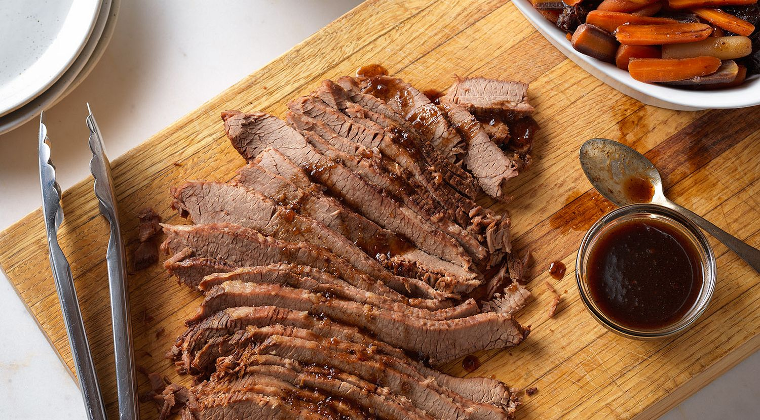 Beef Brisket with Savory Carrots & Dried Plums