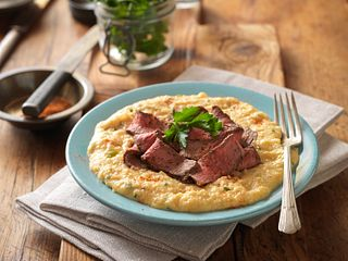 Cajun Style Steak and Grits