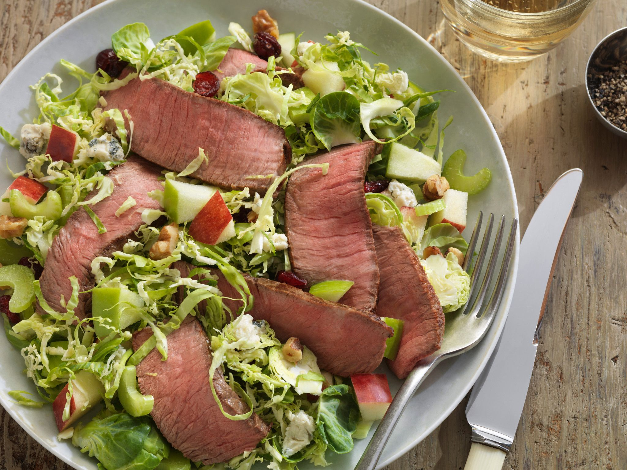 Four-Seasons Beef and Brussels Sprout Chopped Salad