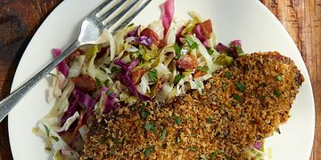 Bavarian Beef Schnitzel with Tangy Slaw