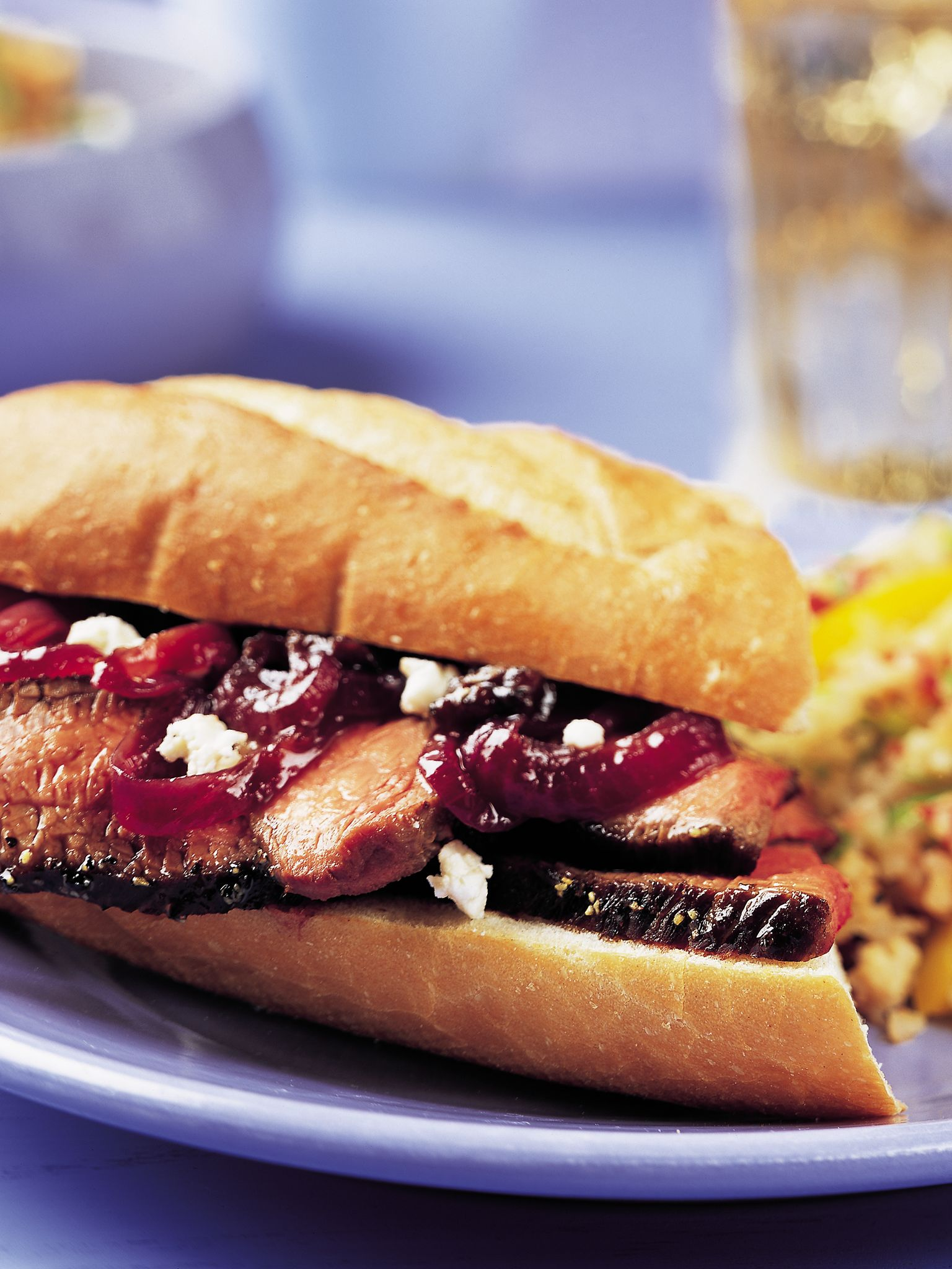 Sirloin Sandwich with Red Onion & Dried Fruit Marmalade