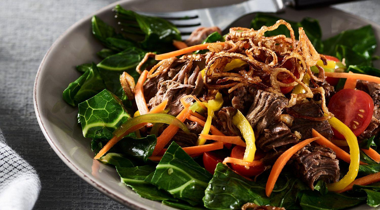 Thai-Braised Beef Shanks and Fresh Pickled Vegetable Salad