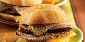 Green Chile Beef Mini Sandwiches