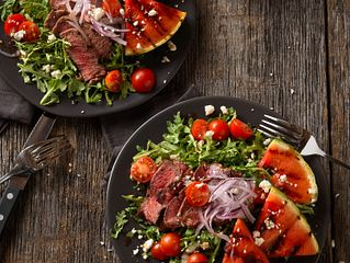 Grilled Steak and Watermelon Salad