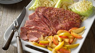 Corned Beef with Apple-Onion Saute